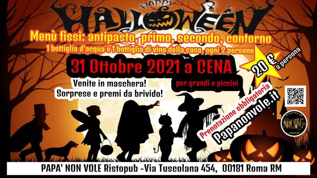 31 ottobre halloween - Risto Pub Papà Non Vuole - Roma Tuscolana